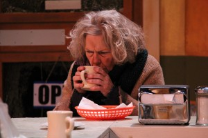 Louise F. Thornton as Lady Boyle in OpenStage Theatre's production of Superior Donuts by Tracy Letts. Photo by Joe Hovorka