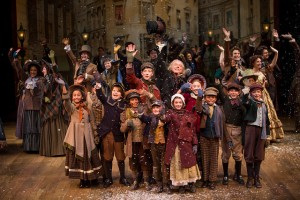 "The company of ""A Christmas Carol"" at Denver Center for the Performing Arts. Photo Credit: Adams Visual Communications."