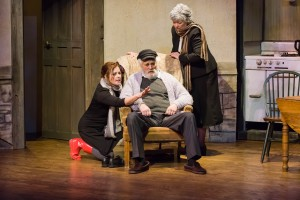 Jessica Emerling Crow as Rosemary Muldoon, and Bruce K. F reestone as Tony Reilly and Denise Burson Freestone as Aoife. Photo by Steve Finnestead Photography