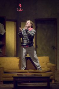 Dan Muth as Phillip in OpenStage Theatre's production of Orphans by Lyle Kessler. Photography by Steve Finnestead Photography